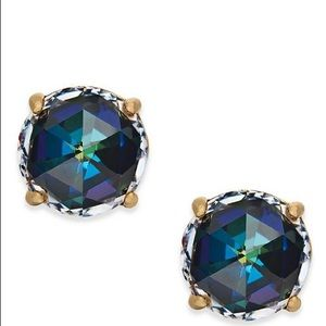 Kate Spade Navy Gumdrop Stud Earrings New